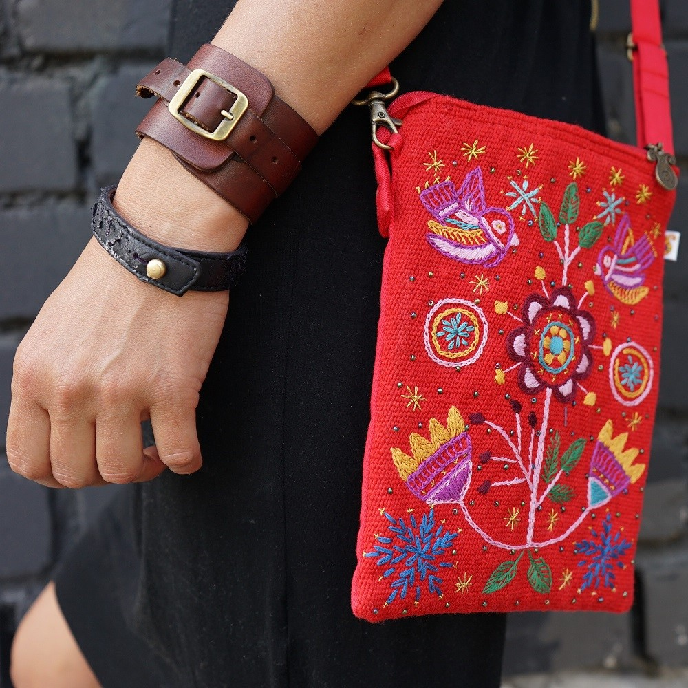 embroided shoulder bag mondo afghanistan