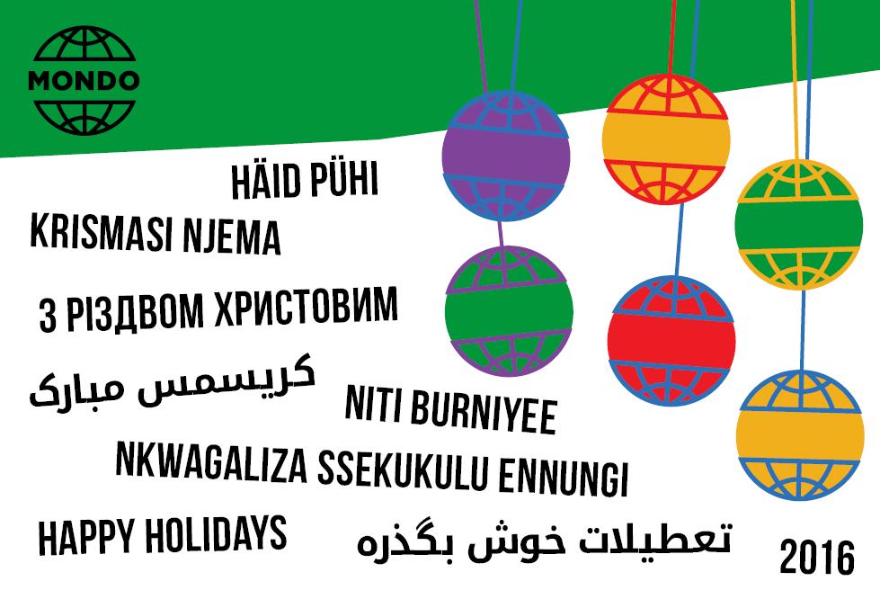 Mondo joulukaart 2016