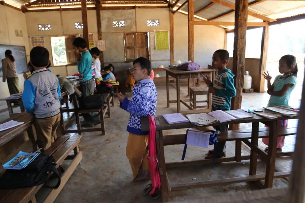 Birma vabatahtlike projekt Zarm Kari külakool