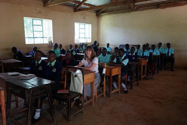 Hannabel klassiruumis Munganga koolis